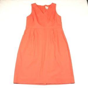 J Crew Suiting Orange Sheath Dress Career Work 14